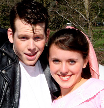 Trevor Hoffman and Lauren Martin in 'Grease.'
