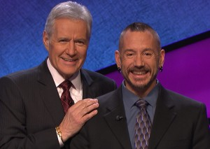 'Jeopardy' host Alex Trebek with Nic Pereira of Guerneville